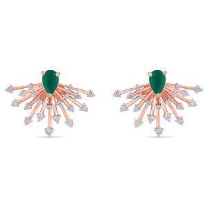 18kt Gold Diamond Earrings For Women - Reliance Jewels